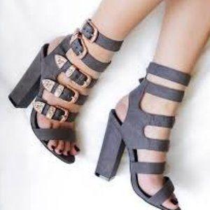 Nasty Gal Heels  Full Exposure PINK & GRAY